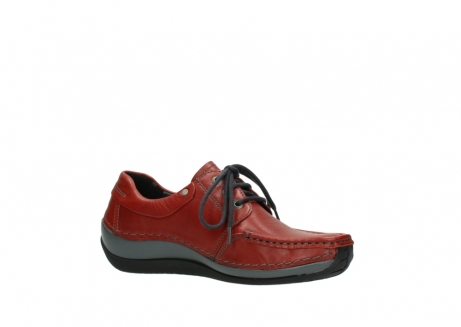 wolky lace up shoes 04825 coral winter 30541 winter red leather_15