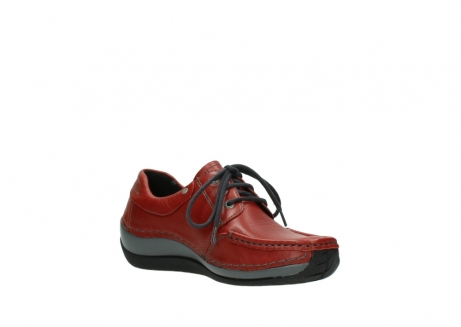 wolky lace up shoes 04825 coral winter 30541 winter red leather_16