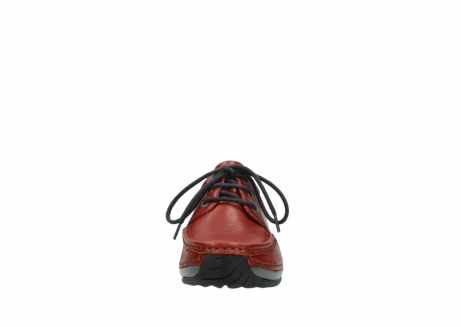 wolky lace up shoes 04825 coral winter 30541 winter red leather_19