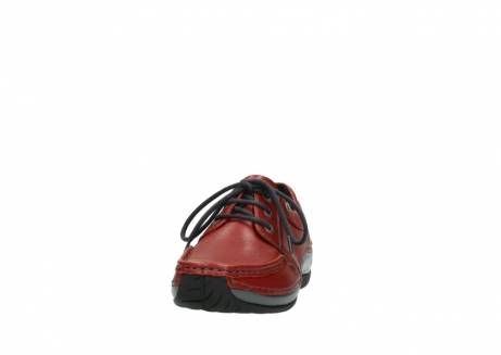 wolky lace up shoes 04825 coral winter 30541 winter red leather_20