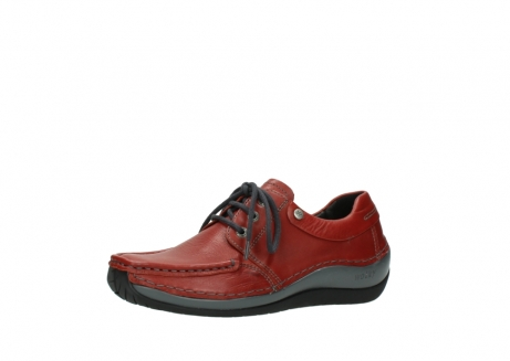 wolky lace up shoes 04825 coral winter 30541 winter red leather_23