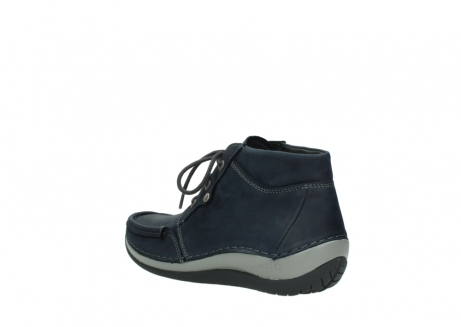 wolky lace up boots 04826 sensation 11802 blue oiled nubuck_4