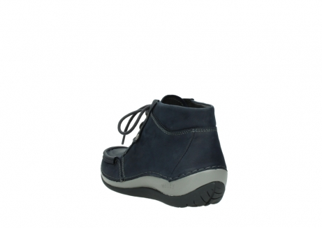 wolky lace up boots 04826 sensation 11802 blue oiled nubuck_5
