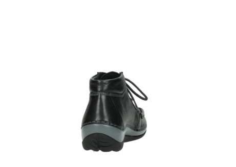wolky lace up boots 04826 sensation 30001 black leather_8