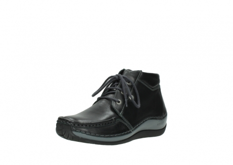 wolky lace up boots 04826 sensation 30001 black leather_22