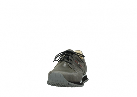 wolky chaussures a lacets 05800 e walk 20201 cuir stretch anthracite_20