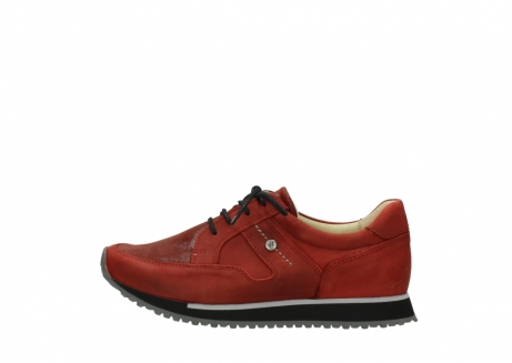 wolky lace up shoes 05800 e walk 20540 winter red stretch leather_1