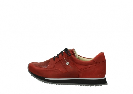 wolky lace up shoes 05800 e walk 20540 winter red stretch leather_2