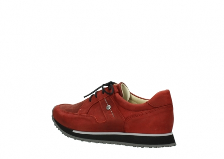 wolky lace up shoes 05800 e walk 20540 winter red stretch leather_3