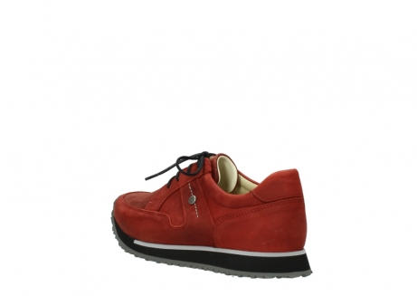 wolky lace up shoes 05800 e walk 20540 winter red stretch leather_4