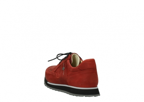 wolky lace up shoes 05800 e walk 20540 winter red stretch leather_5