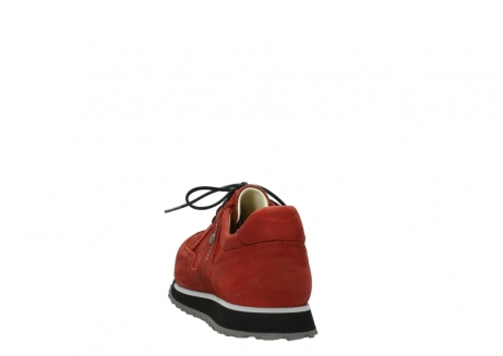 wolky lace up shoes 05800 e walk 20540 winter red stretch leather_6