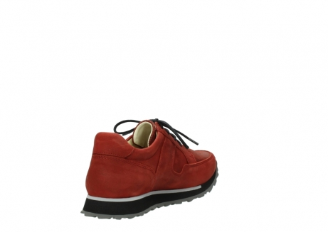 wolky lace up shoes 05800 e walk 20540 winter red stretch leather_9