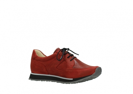 wolky lace up shoes 05800 e walk 20540 winter red stretch leather_15