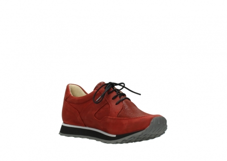 wolky lace up shoes 05800 e walk 20540 winter red stretch leather_16