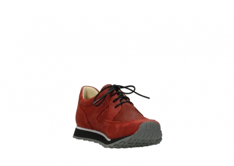 wolky lace up shoes 05800 e walk 20540 winter red stretch leather_17