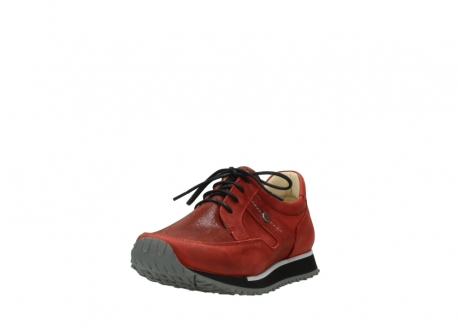 wolky lace up shoes 05800 e walk 20540 winter red stretch leather_21