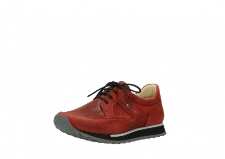 wolky lace up shoes 05800 e walk 20540 winter red stretch leather_22