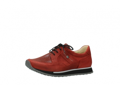 wolky lace up shoes 05800 e walk 20540 winter red stretch leather_23