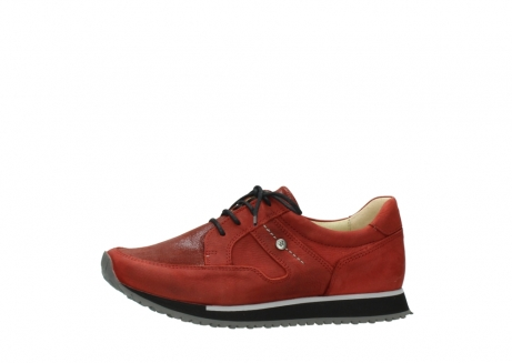 wolky lace up shoes 05800 e walk 20540 winter red stretch leather_24