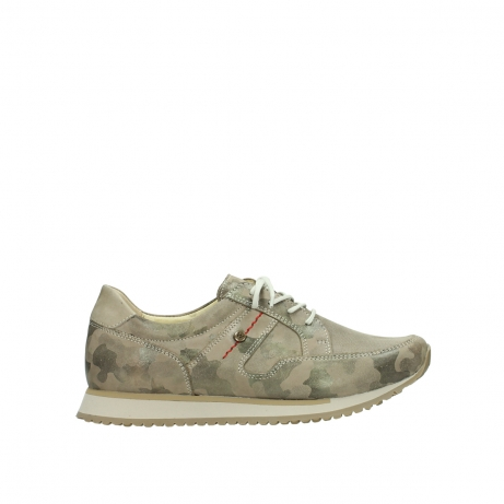 wolky chaussures de marche 05804 e walk 30939 cuir extensible camouflage