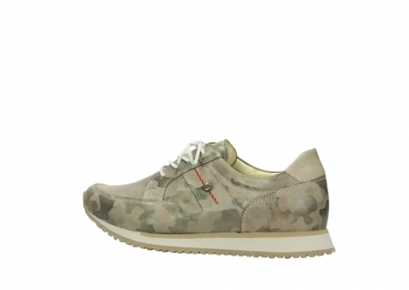 wolky chaussures de marche 05804 e walk 30939 cuir extensible camouflage_2