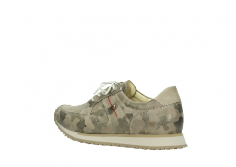 wolky chaussures de marche 05804 e walk 30939 cuir extensible camouflage_3