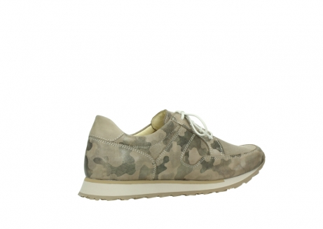 wolky chaussures de marche 05804 e walk 30939 cuir extensible camouflage_11