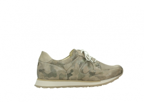 wolky chaussures de marche 05804 e walk 30939 cuir extensible camouflage_12
