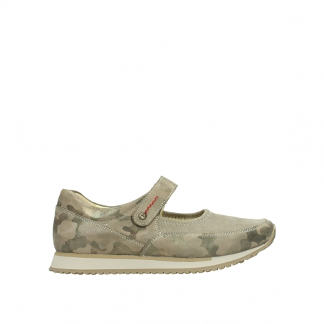 wolky riemchenschuhe 05805 e step 30939 camouflage stretch leder