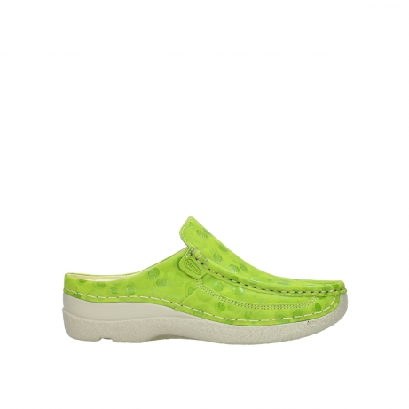 wolky clogs 06202 roll slide 12750 lime nubukleder