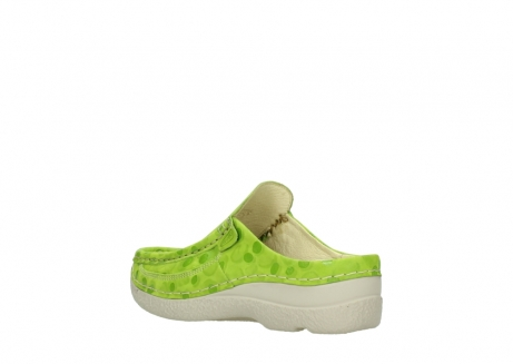wolky clogs 06202 roll slide 12750 lime nubukleder_4