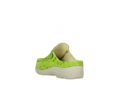 wolky clogs 06202 roll slide 12750 lime nubukleder_5