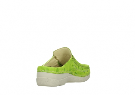 wolky clogs 06202 roll slide 12750 lime nubukleder_9