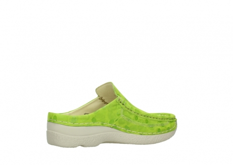 wolky clogs 06202 roll slide 12750 lime nubukleder_11