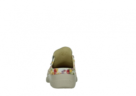 wolky clogs 06202 roll slide 12910 white multi_7