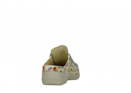 wolky clogs 06202 roll slide 12910 white multi_8