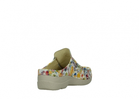 wolky clogs 06202 roll slide 12910 weiss multi_9