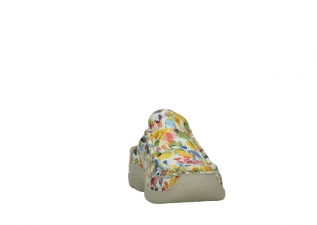 wolky clogs 06202 roll slide 12910 white multi_18