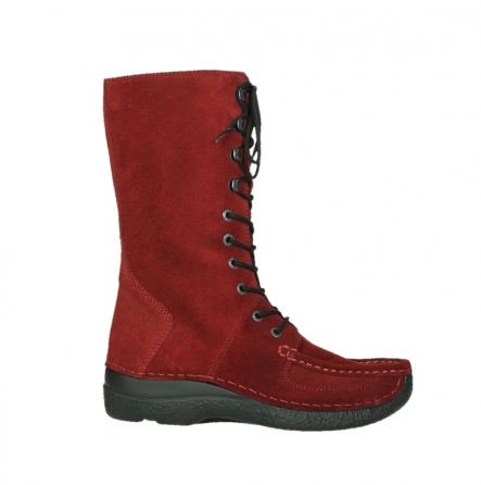 wolky halbhohe stiefel 06210 roll fashion 40540 winter rot geoltem veloursleder_1
