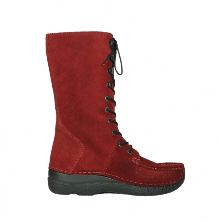 wolky halbhohe stiefel 06210 roll fashion 40540 winter rot geoltem veloursleder_2