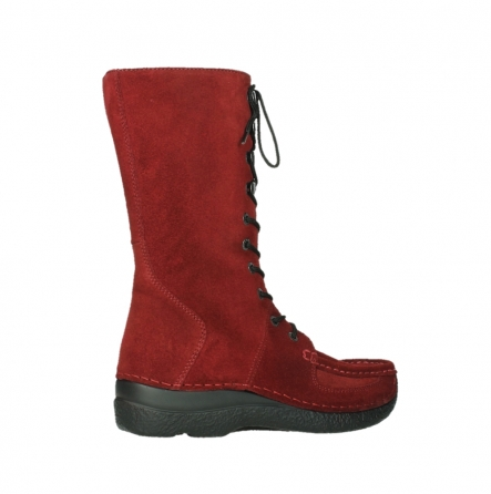 wolky halbhohe stiefel 06210 roll fashion 40540 winter rot geoltem veloursleder_3