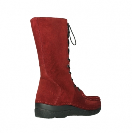 wolky halbhohe stiefel 06210 roll fashion 40540 winter rot geoltem veloursleder_4