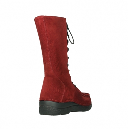 wolky halbhohe stiefel 06210 roll fashion 40540 winter rot geoltem veloursleder_5
