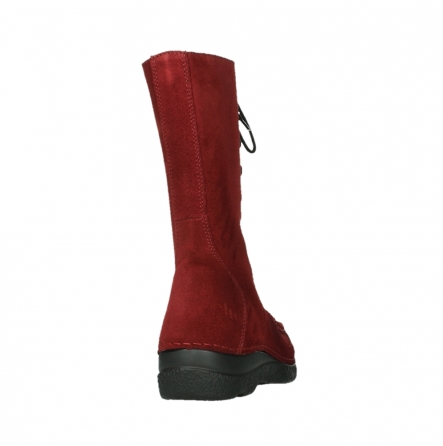 wolky halbhohe stiefel 06210 roll fashion 40540 winter rot geoltem veloursleder_6