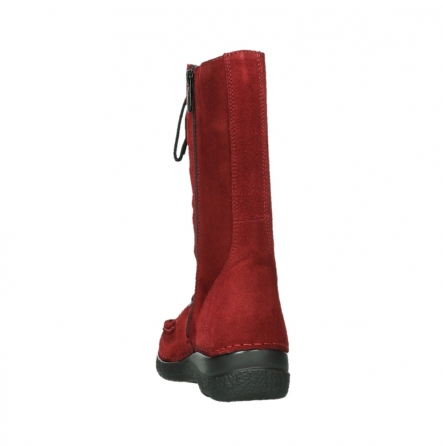 wolky halbhohe stiefel 06210 roll fashion 40540 winter rot geoltem veloursleder_8