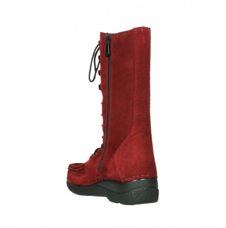wolky halbhohe stiefel 06210 roll fashion 40540 winter rot geoltem veloursleder_9