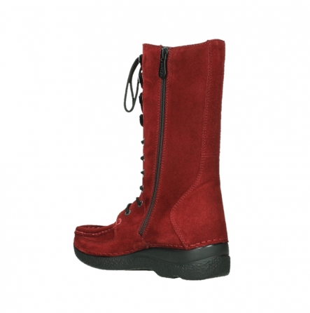 wolky halbhohe stiefel 06210 roll fashion 40540 winter rot geoltem veloursleder_10