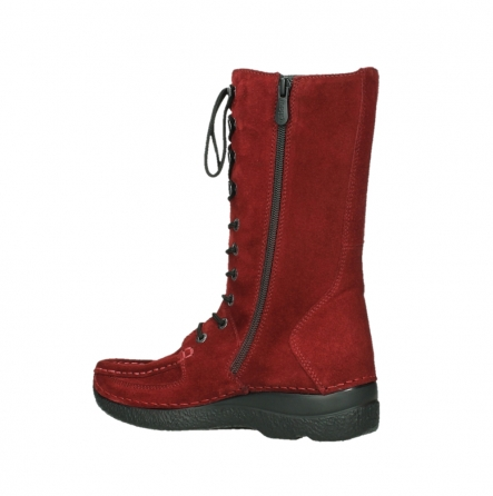 wolky halbhohe stiefel 06210 roll fashion 40540 winter rot geoltem veloursleder_11