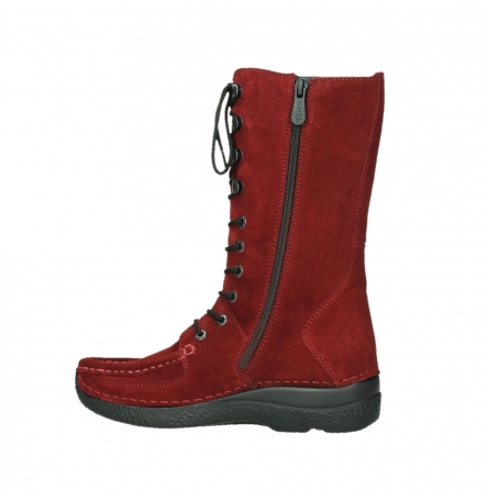wolky halbhohe stiefel 06210 roll fashion 40540 winter rot geoltem veloursleder_12